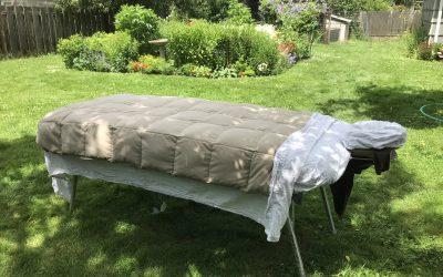 Outdoor Massage In Your Garden or Mine!